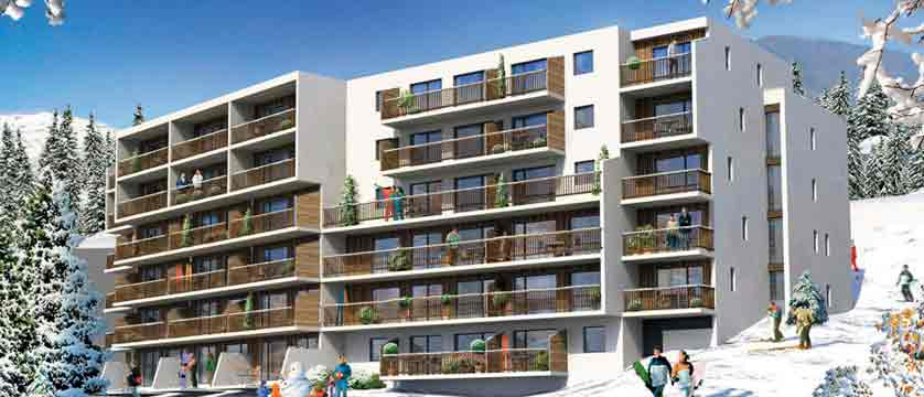Flaine apartments exterior